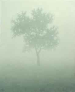 """Tableau de Tobias Spierenburg """"Arbre dans la brume"""" 130x97cm (60 Figures)"""