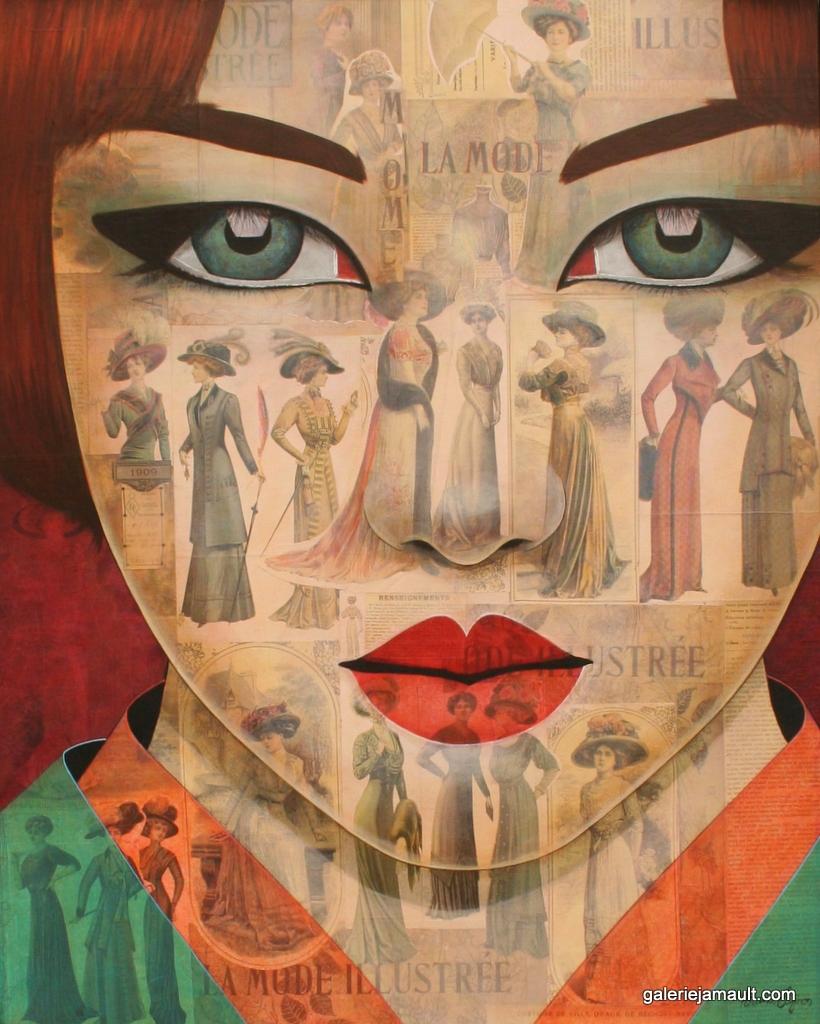 Tableau de l'artiste peintre Pauline Gagnon représentée en France par la Galerie JAMAULT à Paris et Versailles