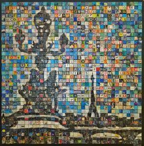 Paris, tour Eiffel depuis le pont Alexandre III, tableau de Joël CUOQ