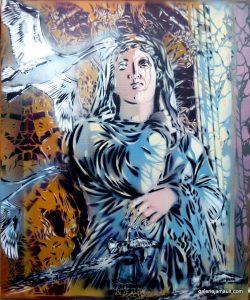 Artiste Ouvrier Métonymies Pochoirs polychromes Exposition Galerie Jamault Versailles