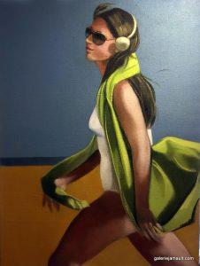 Tableau de Martine Pinsolle à la Galerie JAMAUT