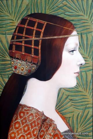 Tableau de Pauline GAGNON, profil de femme