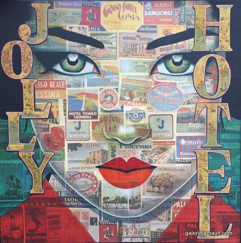 Tableau de Pauline GAGNON, avec l'inscription Jolly Hotel