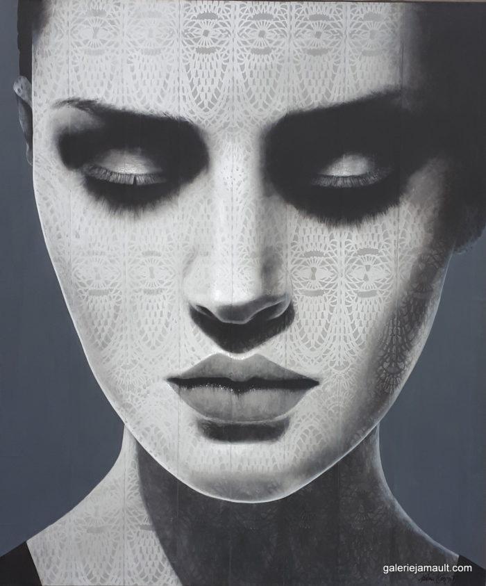 Tableau de Pauline GAGNON, camaïeu de gris