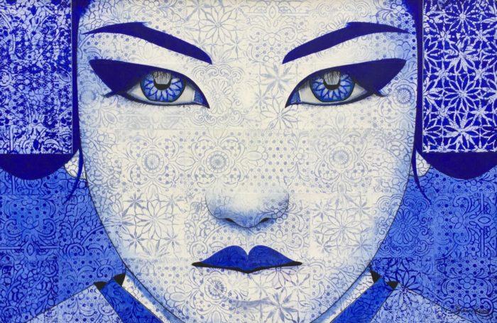 Portait bleu de Pauline GAGNON