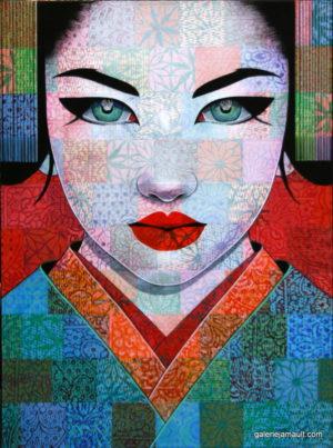 Tableau de Pauline Gagnon présenté par la Galerie Jamault
