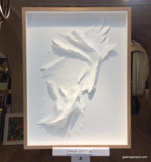 Oeuvre d'Angèle GUERRE, incision papier au scalpel