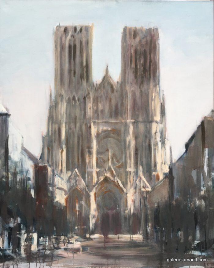 Vue de la Cathédrale Notre Dame de Reims (France)