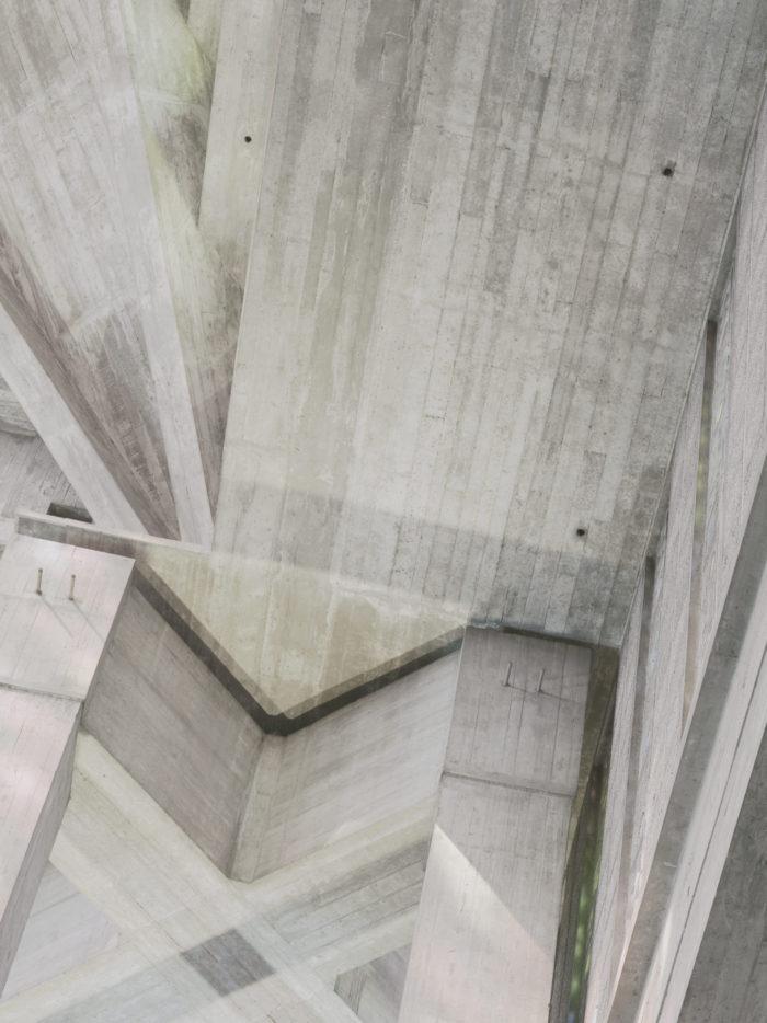 Photographie abstraite de Corinne Cavillac - béton et architecture